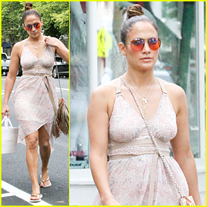 Jennifer Lopez Does Some Post-Independence Day Shopping in the Hamptons