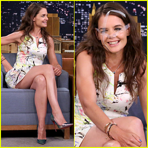 Jimmy Fallon Puts Tape All Over Katie Holmes' Face - Watch Here!