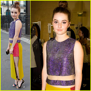 Kaitlyn Dever Attends First Fashion Show Ever with Versace!