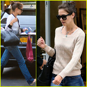 Katie Holmes Steps Out After Relocating to the Big Apple