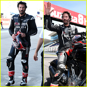 Keanu Reeves Hops on a Motorcycle During Suzuka 8 Hours!