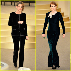 Kristen Stewart & Julianne Moore Team Up for Karl Lagerfeld at Paris Fashion Week!