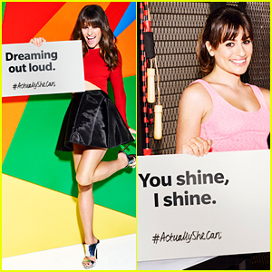 Lea Michele's #ActuallySheCan Campaign - See Her Inspirational Messages!