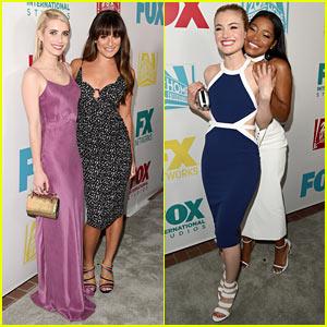 Lea Michele & Emma Roberts Take 'Scream Queens' to Fox's Comic-Con Party!