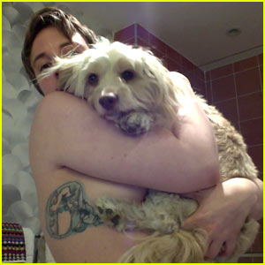 Lena Dunham Goes Topless for National Mutt Day