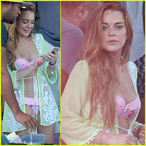 Lindsay Lohan Meets Her Idols While Traveling in Greece
