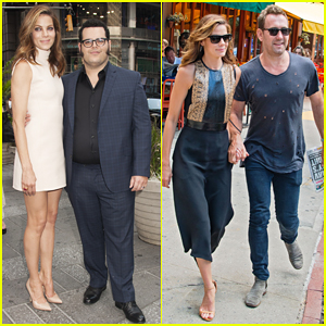 Michelle Monaghan & Josh Gad Take Over NYC for 'Pixels'!