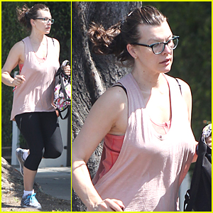Milla Jovovich Flaunts Post-Baby Body After Giving Birth Three Months Ago