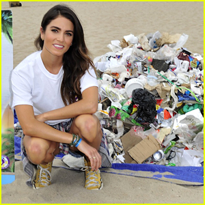 Nikki Reed Cleans Up Trash From Santa Monica Beach With Barefoot Wine