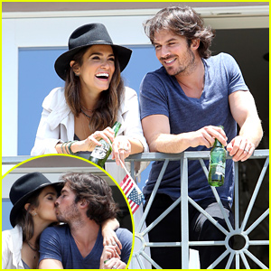 Ian Somerhalder & Nikki Reed Pack on the PDA on Independence Day!