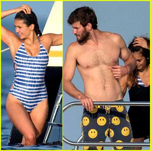 Nina Dobrev Wears a Sexy Swimsuit Alongside Shirtless Boyfriend Austin Stowell!