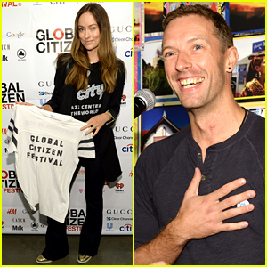 Olivia Wilde & Chris Martin Help Launch Global Citizen Festival 2015!