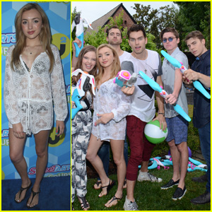Peyton List Participates in Biggest Water Fight Ever at JJ's Summer Bash 2015!