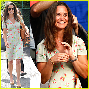 Pippa Middleton Watches Roger Federer Beat Roberto Bautista at Wimbledon