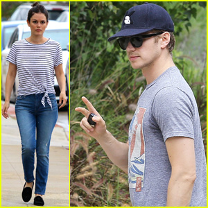 Rachel Bilson Sports Stripes While Visiting Friends in Studio City