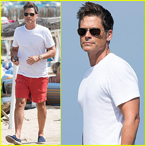 Rob Lowe & Wife Sheryl Berkoff Vacation in St. Tropez