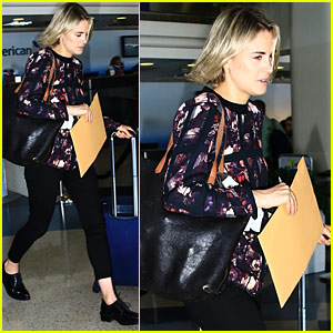 Taylor Schilling Catches a Flight After Summer TCA Tour Appearance