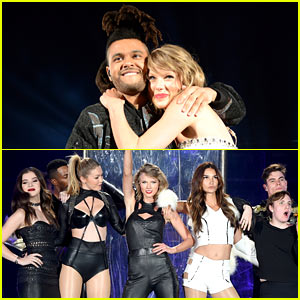 Taylor Swift Sings 'Can't Feel My Face' with The Weeknd at New Jersey Show! (Video)