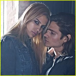 Will Peltz Cozies Up to Girlfriend Kenya Kinski Jones in Calvin Klein Jeans Fall 2015 Campaign