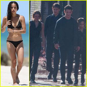 Zoe Kravitz Shows Off Her Bikini Body Before Filming More 'Allegiant' Scenes in Atlanta