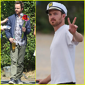 Aaron Paul Has A Costume Birthday Bash on the Set of 'Come & Find Me'