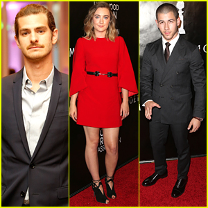 Andrew Garfield Shows Off New Mustache At HFPA's Grants Banquet