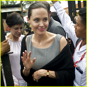 Angelina Jolie Visits Female Factory Workers in Myanmar