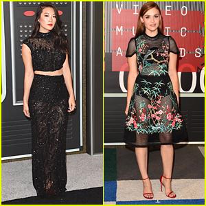 Holland Roden & Arden Cho Rep 'Teen Wolf' At MTV VMAs 2015