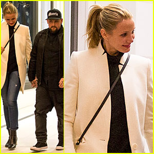 Cameron Diaz & Husband Benji Madden Have a Dinner Date Down Under