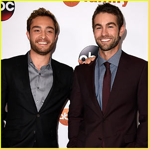 Chace Crawford & Ed Westwick Goof Off at ABC's TCA Party