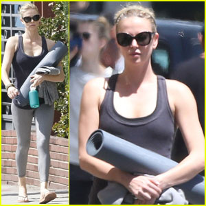 Charlize Theron Hits Yoga Class After Adopting Baby Girl