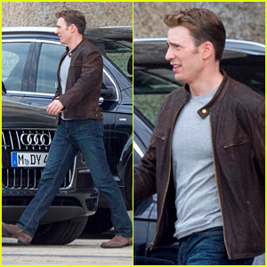 Chris Evans Continues Filming 'Captain America: Civil War' in Berlin