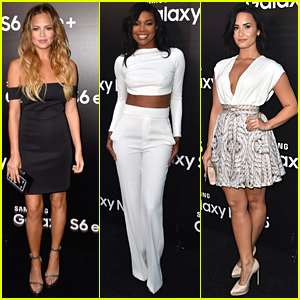 Chrissy Teigen & Gabrielle Union Step Out For Samsung's Launch Party