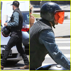 David Beckham Goes For a Sunday Motorcycle Ride