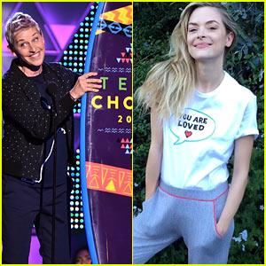 Ellen DeGeneres Launches 'Hey World' with Jaime King