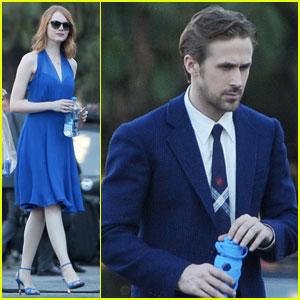 Ryan Gosling & Emma Stone Get to Work on 'La La Land' - First On-Set Photos!