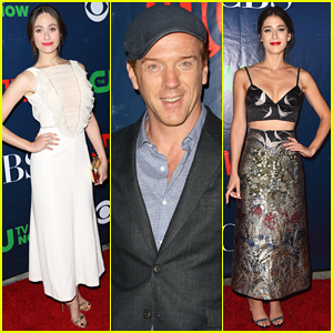 Emmy Rossum, Damian Lewis & Lizzy Caplan Heat Up the CBS TCA Party!
