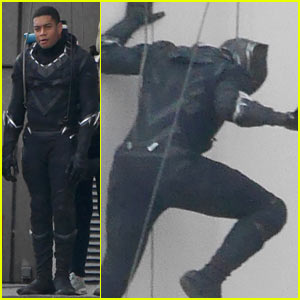 First Photos of Black Panther on 'Captain America' Set!