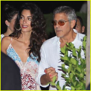 George & Amal Clooney Double Date With Cindy Crawford & Rande Gerber in Ibiza