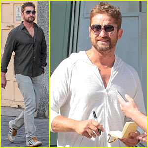 Gerard Butler Takes Care of His Fans in Brazil