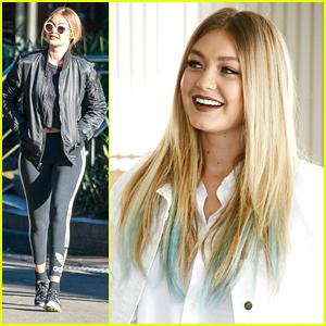 Gigi Hadid Adds Blue Streaks To Her Hair - See Them Here!