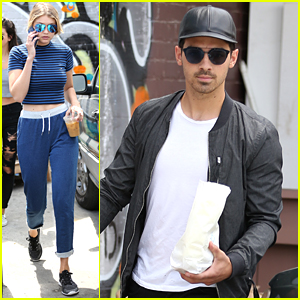 Gigi Hadid & Joe Jonas Pick Up Coffee To Go With Frankie Jonas