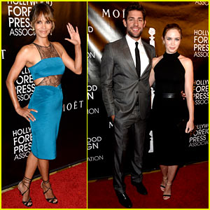 Halle Berry & Emily Blunt Get Awards Season Started Early with HFPA Event!