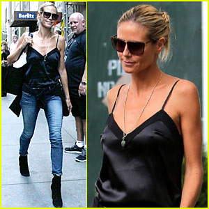 Heidi Klum & Mel B Fly Private to America's Got Talent Taping