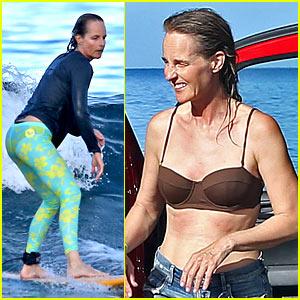 Helen Hunt Shows Off Impressive Surfing Skills at 52!