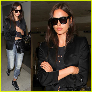Irina Shayk Bundles Up at LAX After Her Beach Vacation