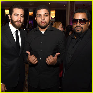 Jake Gyllenhaal Meets the 'Straight Outta Compton' Team!