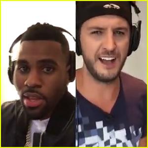 Jason Derulo & Luke Bryan Karaoke 'Want To Want Me' Together - Watch Now!