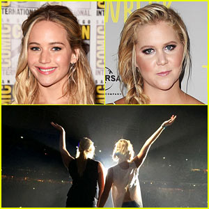 Jennifer Lawrence & Amy Schumer Dance on Bil