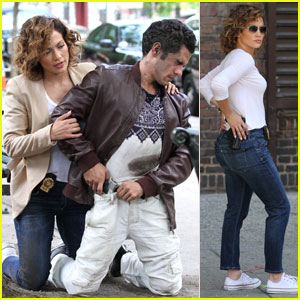 Jennifer Lopez Arrests Someone for 'Shades of Blue' Filming
